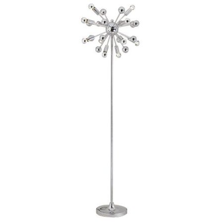 "Image of AF Lighting 5691-FL Elements Series ""Supernova"" Floor Lamp with Silver-Tipped Bu"