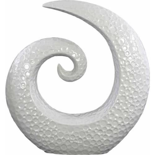 Urban Trends Collection: Ceramic Sculpture, Gloss Finish, White