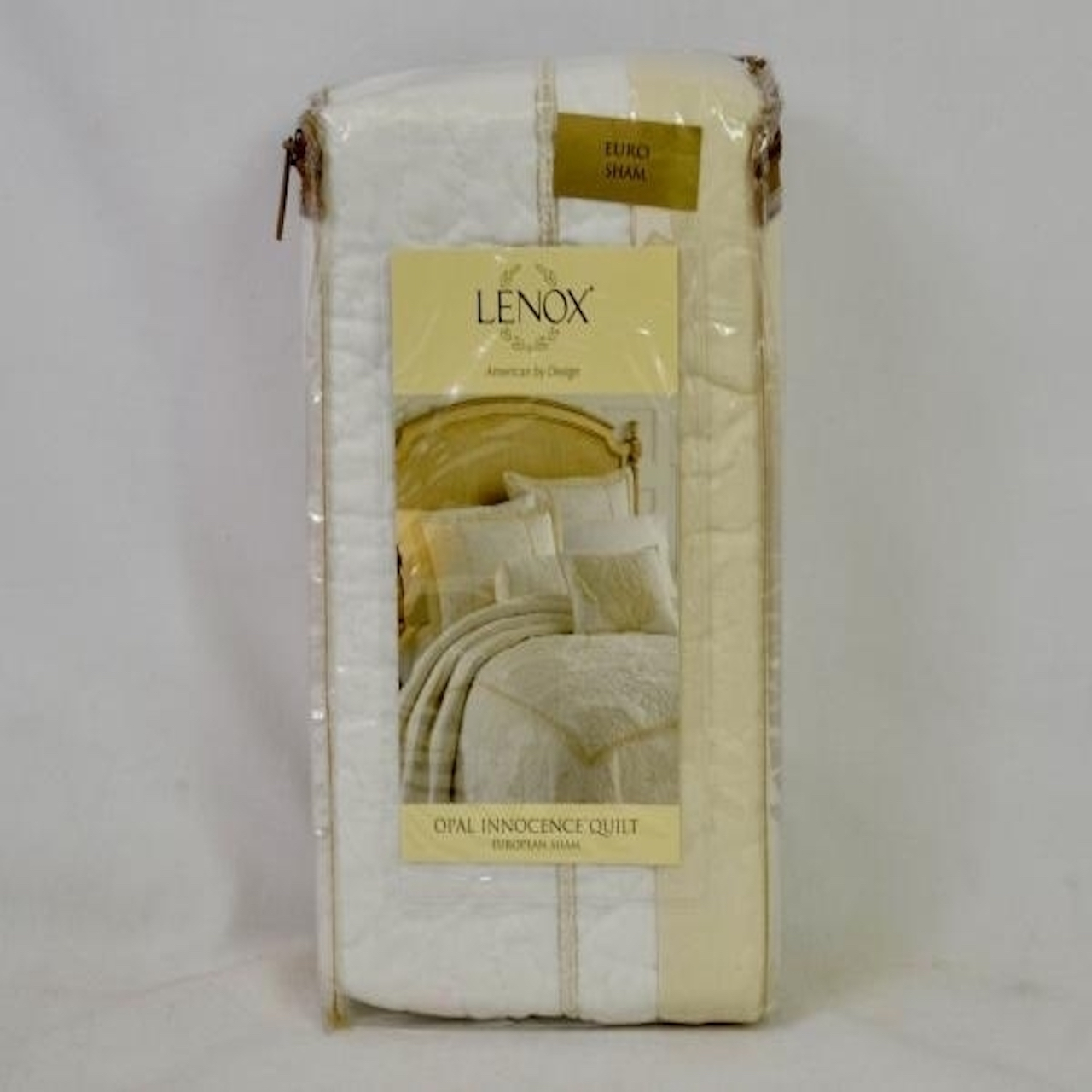 Lenox Opal Innocence Quilted European Sham in White - image 1 of 1