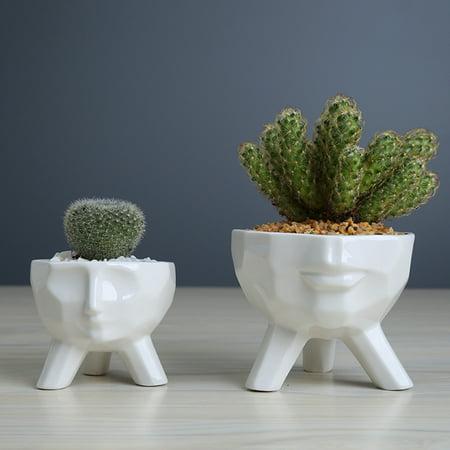 Humanoid Ceramic Flower Succulent Pot Vase Home Decoration Birthday Gift Cute - image 1 of 6
