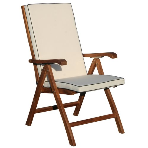 Chic Teak Miami Italy Indoor Outdoor Reclining Chair Cushion by