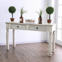 Furniture Of America Sonotta Cottage Console Table In Antique White
