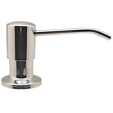 Ultimate Kitchen - Best Stainless Steel Sink Soap Dispenser (Polished) - Large Capacity 17 Ounce Bottle - Easy Installation - Well Built and Sturdy - image 1 of 1