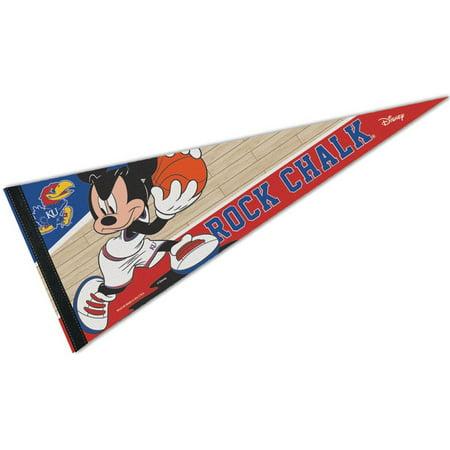 Kansas Jayhawks Garden Flag (Kansas KU Jayhawks Disney Mickey Mouse Pennant )