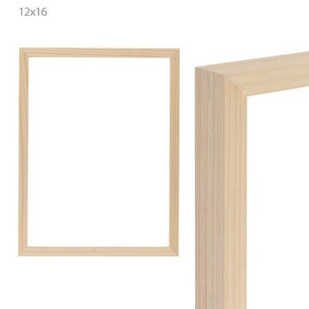 Ambiance Gallery Frames Unfinished Wood Natural Open Back No Glass 1.25