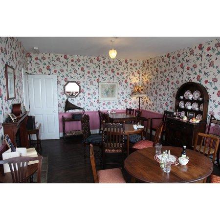 LAMINATED POSTER Restaurant Retro Tea Tea Room Cafe Antique Poster Print 24 x 36