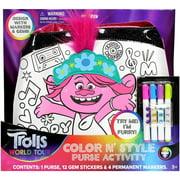Trolls World Tour Color N Style Purse Activity Set