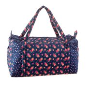 Darice Floral Duffel Bag: Navy, 20 x 15 inches