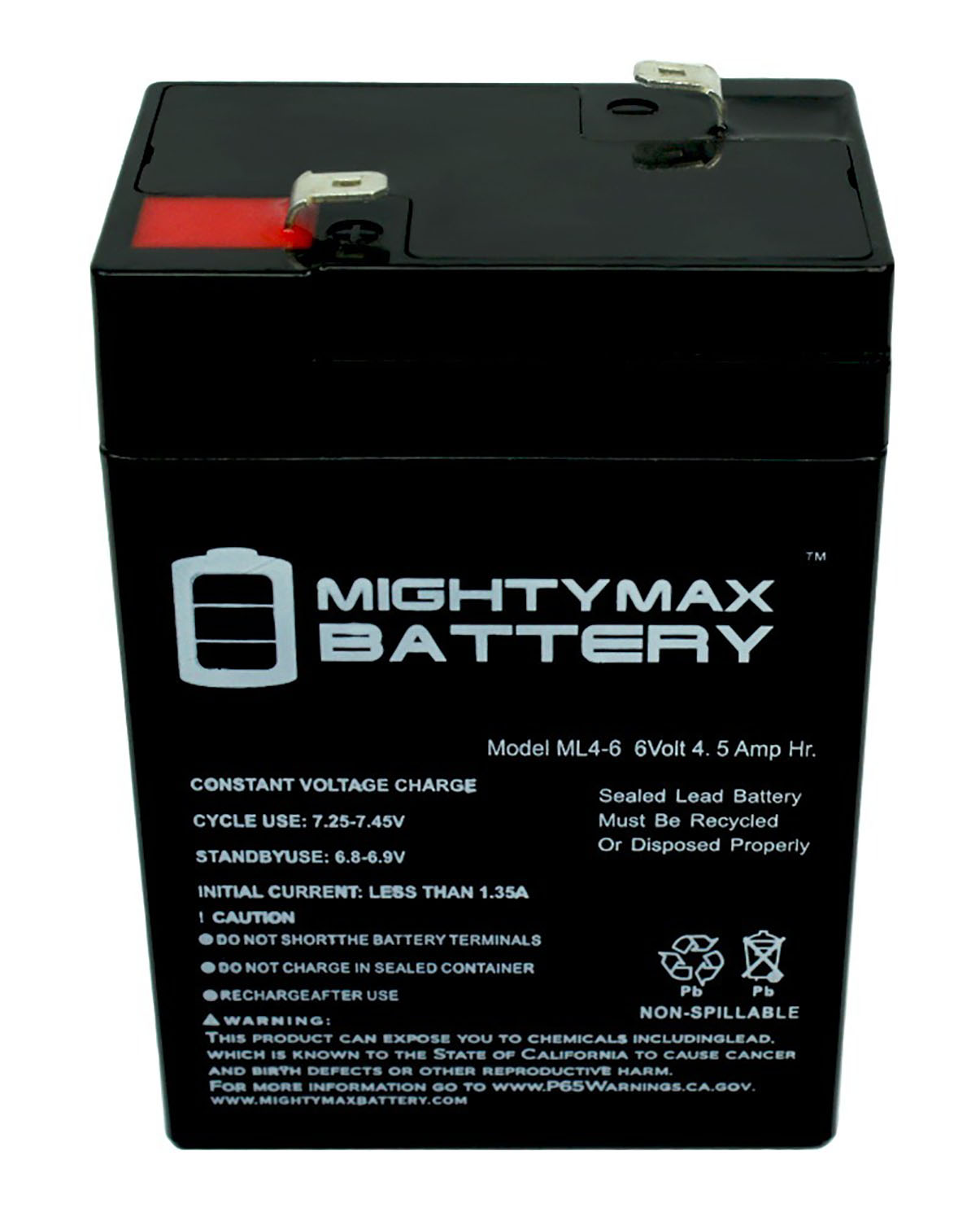 Mighty Max Battery ML4-6 6V 4.5AH UPS Battery for Unison 600-6 Pack Brand Product