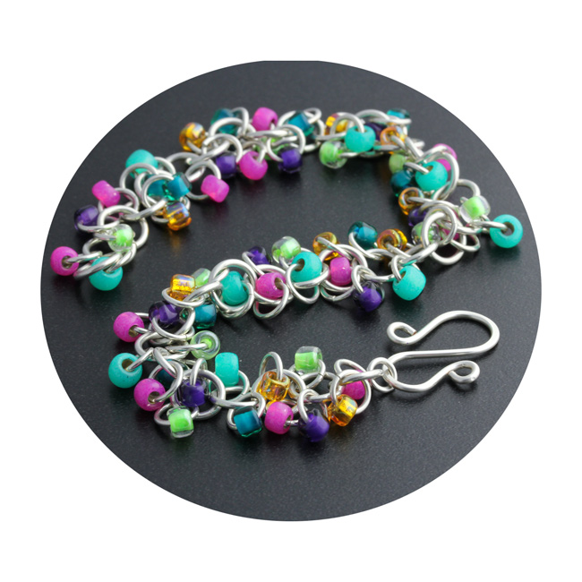 Weave Got Maille Chain Maille Shaggy Loops Bracelet Kit - Girls Just Wanna Have Fun