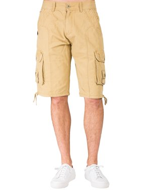 0d088b871f Product Image Level 7 Men's Relax Midrise Fit Timber Canvas Stone Wash  Utility Shorts Multi Cargo Pockets