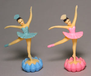 2 pc Ballerina w/ Rosebud Asst. Cake Adornments (2.5 inches)