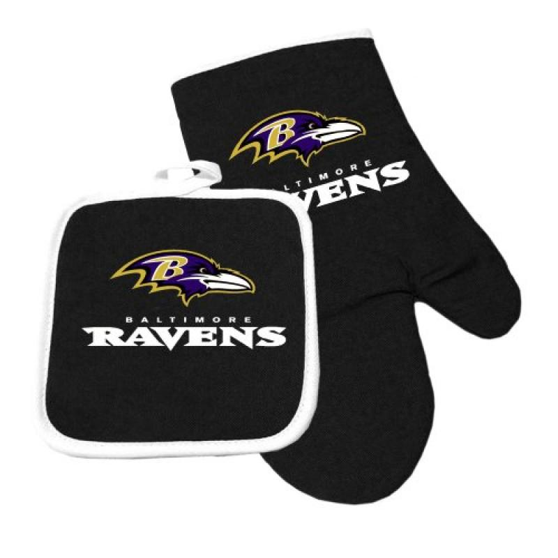 Baltimore Ravens NFL Oven Mitt and Pot Holder Set by Pro Specialties Group