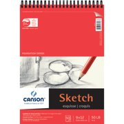"""Canson Foundation Series Sketch Pad, 9"""" x 12"""", 50 Sheets/Pad"""