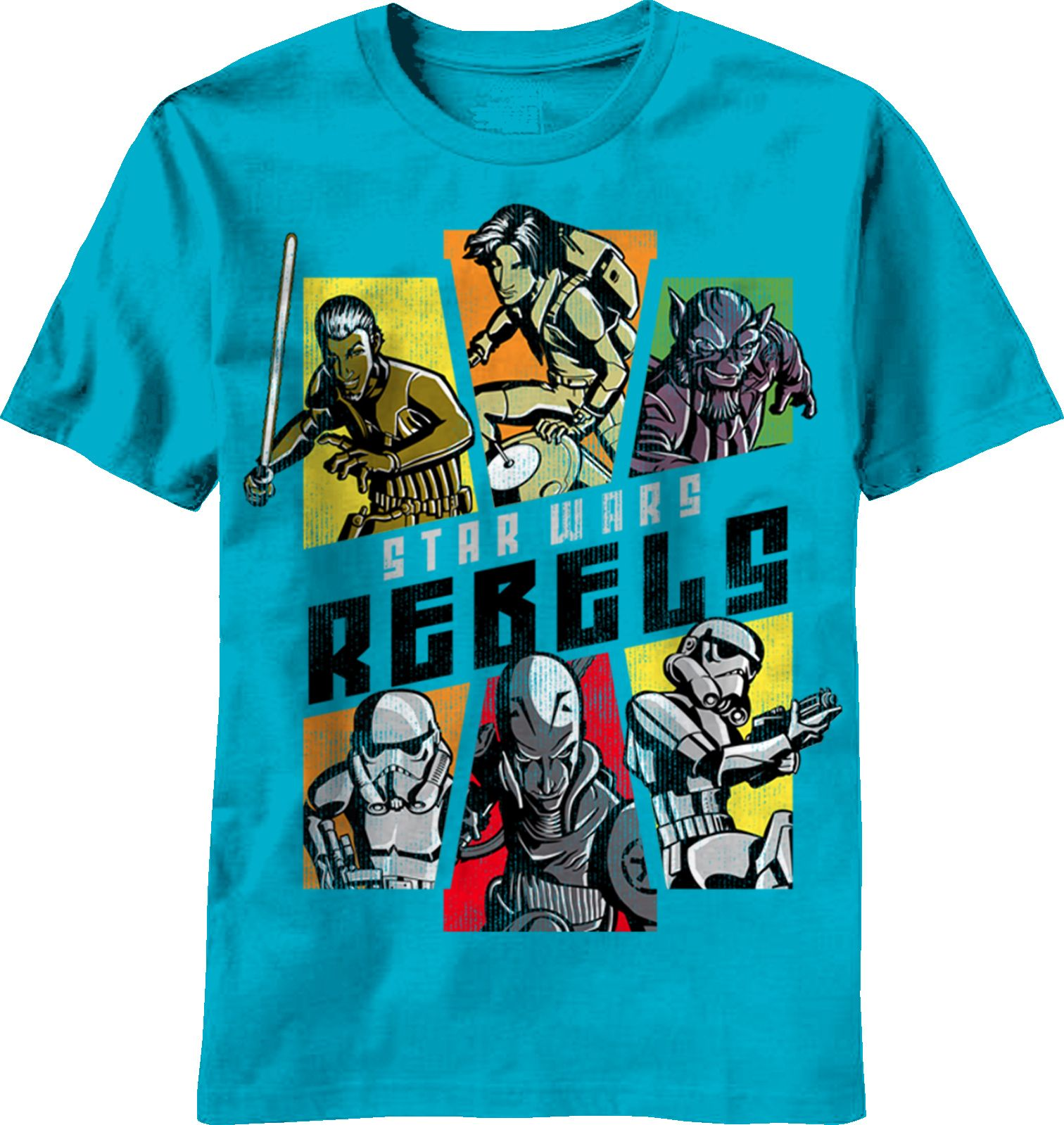 Star Wars Day of the Rebels Youth Turquoise Shirt