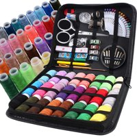 Sewing KIT, XL Spools of thread, All you need in a PU Case, Perfect for Home Travel and Emergency, Easy to Use for Everyone