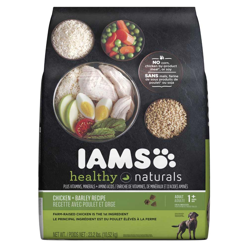 Iams Healthy Naturals Adult Dog Chicken And Barley Recipe Dry Dog Food 23.2 Pounds