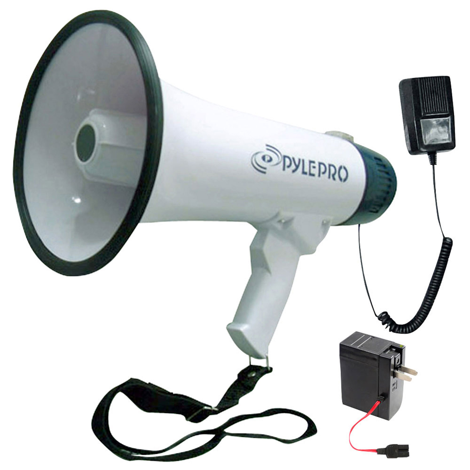 Pyle Professional Dynamic Megaphone With Recording Function/Detachable Microphone & Rechagable batteries