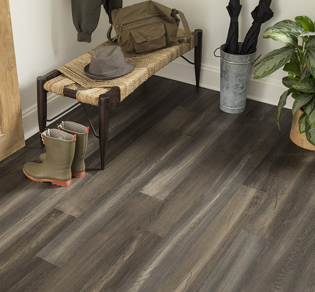 Midnight Mesa 6.5 mm Thickness x 5.12 in. Width x 48.03 in. Length Water Resistant Engineered Wood Flooring (15.36 sq. ft. / case)