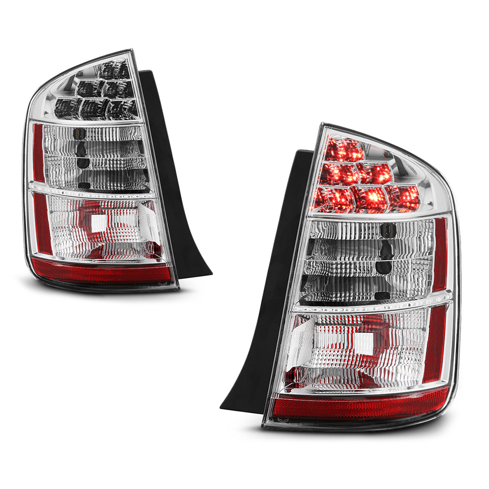 VIPMOTOZ Chrome Housing New OE-Style Tail Light Lamp Assembly For 2006-2009 Toyota Prius