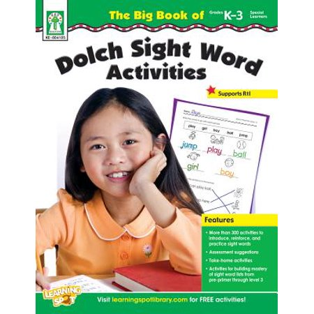 The Big Book of Dolch Sight Word Activities, Grades K - - Halloween Activities For Grade 3 And 4