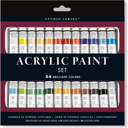 Studio Series Acrylic Paint Set (24 Colors): A Complete Palette of Acrylic Paints. Perfect for Artists, Students, and Crafters! (Other)