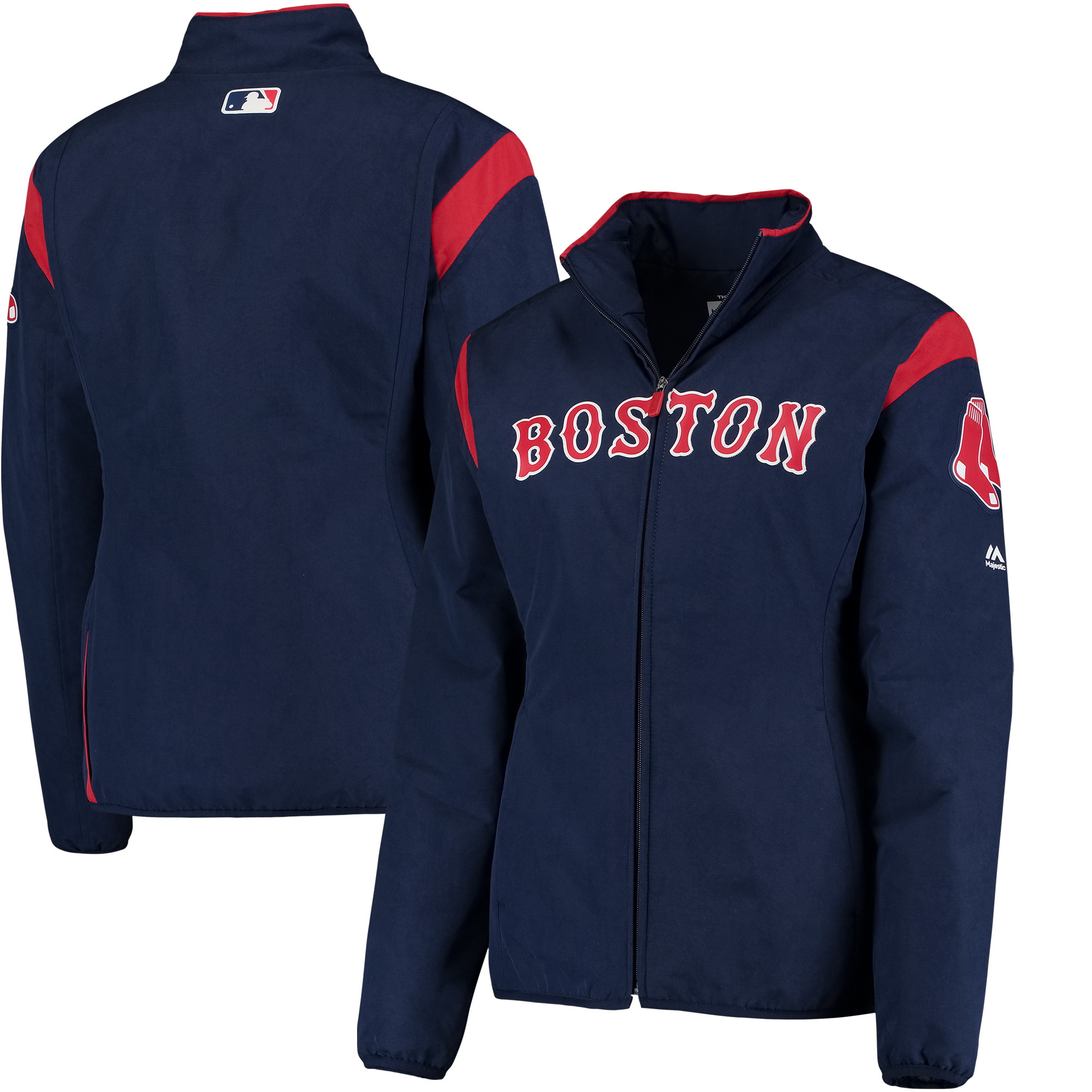 Boston Red Sox Majestic Women's On-Field Thermal Jacket - Navy