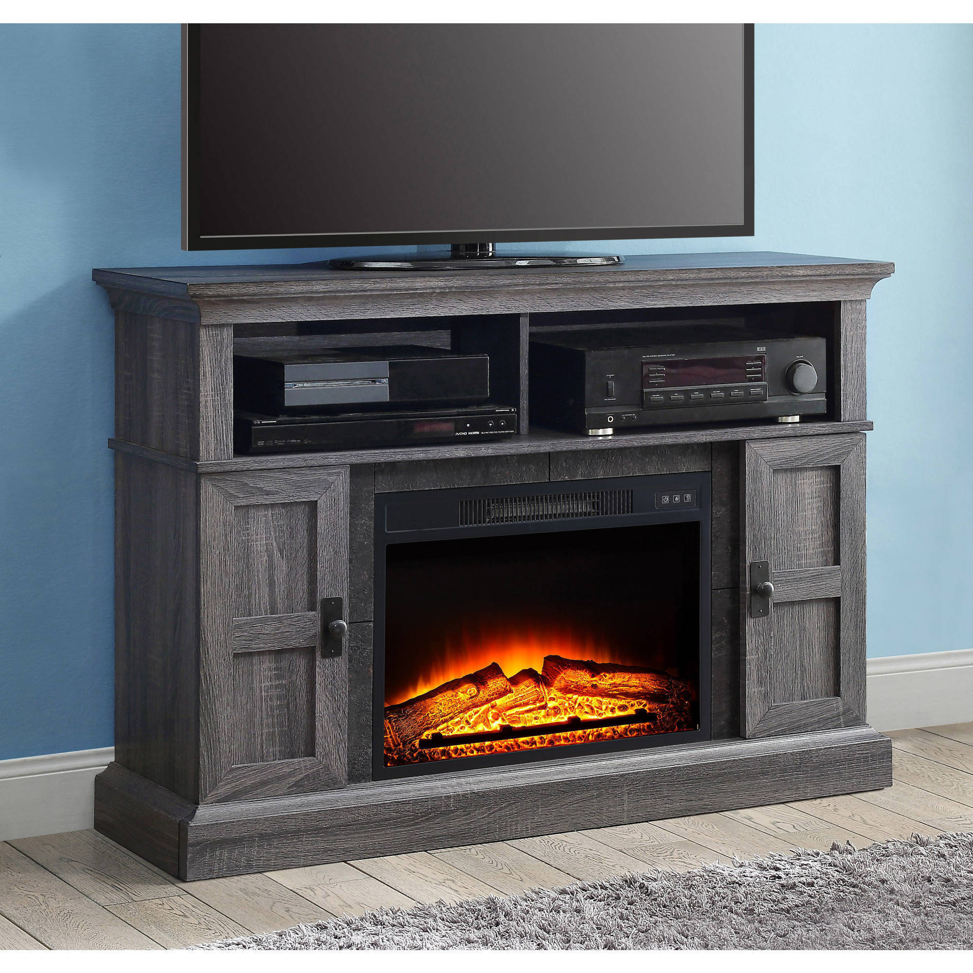 "Whalen Media Fireplace Console for TVs up to 55"" Gray"