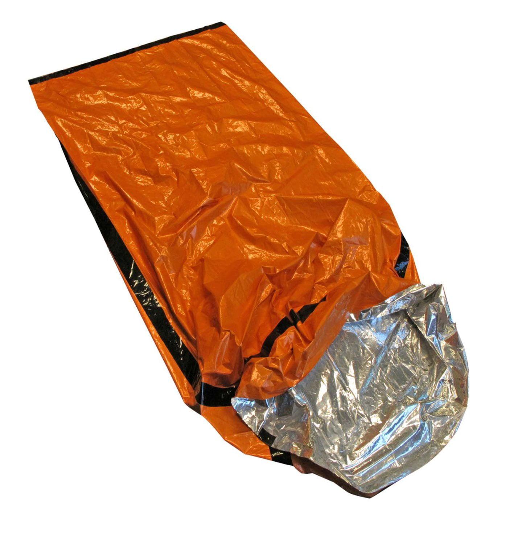 Eb122or Emergency Sleeping Bag With Drawstring Carrying Orange 1 Pack