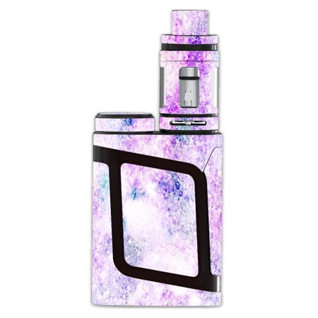 Skin Decal For Smok Al85 Alien Baby Kit Vape / Pastel Crystals Pink Purple - Kit Baby Pastels