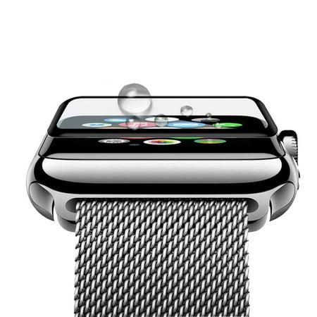 Lien Dream 0.2mm Protecteur d'écran en verre trempé pour 38mm Apple Watch iWatch Série 3 Cadre en alliage d'aluminium haute transparence Anti-rayure Anti-poussière Antidéflagrant - image 1 de 7