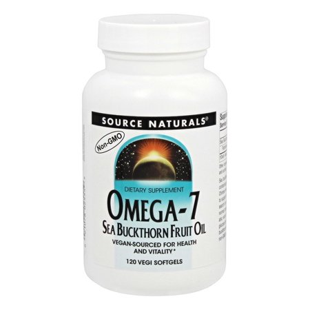 Source Naturals - Omega-7 Sea Buckthorn Fruit Oil - 120 Vegetarian (Source Of Omega 3 In Vegetarian Diet)