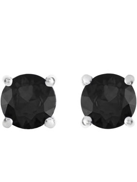4c60b069a316 Product Image 2 Carat T.W. Round Black Diamond Sterling Silver Stud Earrings