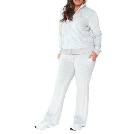 846feb34d10 White Mark - Universal PS2828-05-3XL Velour 2 Piece Womens Plus Size ...