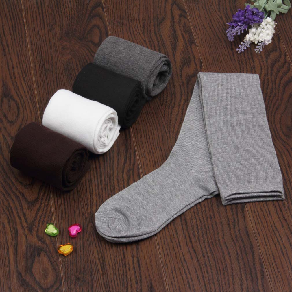 Womem Long Cotton Socks Over Knee Thigh High Hose Trendy Stockings