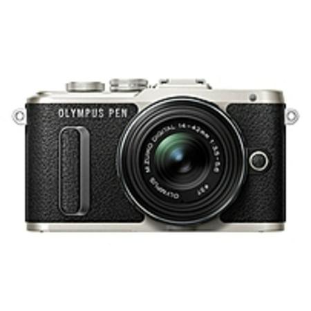Refurbished Olympus PEN E-PL8 16.1 Megapixel Mirrorless Camera with Lens - 14 mm - 42 mm - Black - 3