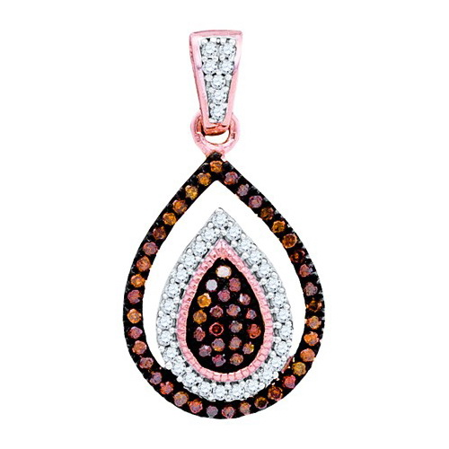 10K Yellow Gold 0.20ctw Fancy Decorated Pave Diamond Fashion Oval Pendant
