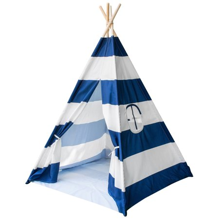 (Sorbus Teepee Play Tent for Kids, Includes Portable Carry Bag for Travel or Storage)