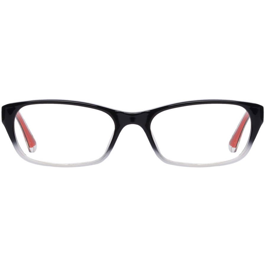covergirl womens eyeglass frames blackred walmartcom