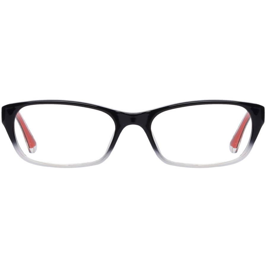 covergirl womens eyeglass frames blackred walmartcom