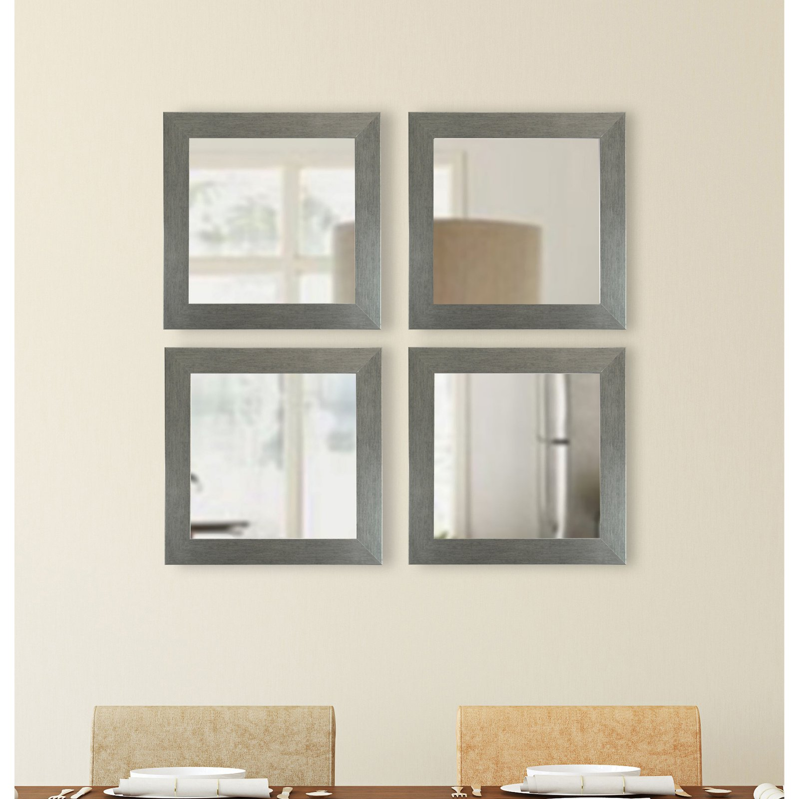 Rayne Mirrors Yukon Square Wall Mirror Set of 4 by Overstock