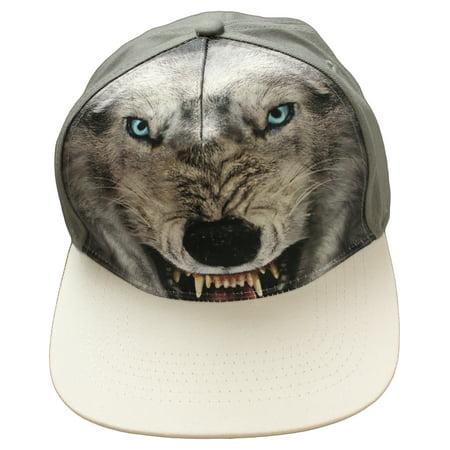 Wolf Sublimation Premium Snap Back Baseball Cap Hat, One Size - Wolf Hat