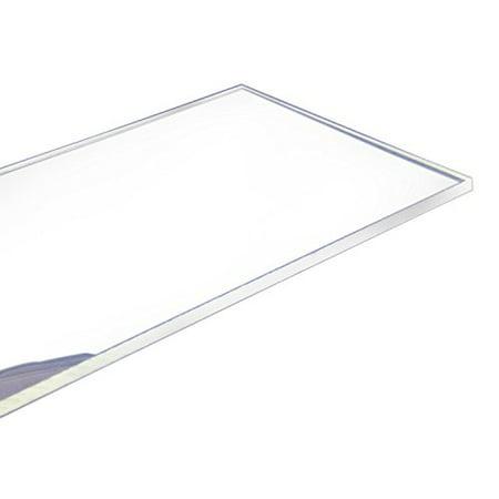 - Cast Acrylic Sheet 24-Inchx12-Inchx0.25-Inch Clear 1-Sheet for Cosmetics,Aquarium,Window,Display Rack,Signs,Light Boxes,Telephone Booth