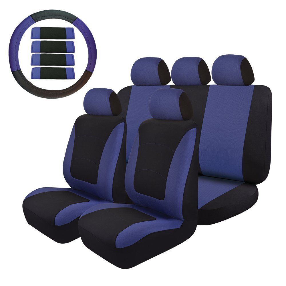 14PC Universal Seat Covers Full Set, Fit Most Car SUV Truck