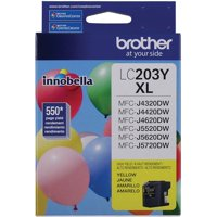 LC203Y-LC203Y YELLOW INK CARTRIDGE-HIGH YIELD-BROTHER INT L (SUPPLIES)