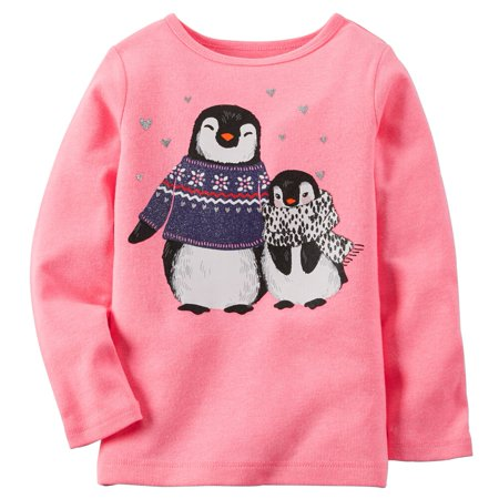 Carters Baby Clothing Outfit Girls Neon Penguin Tee T-shirt - Neon Outfit