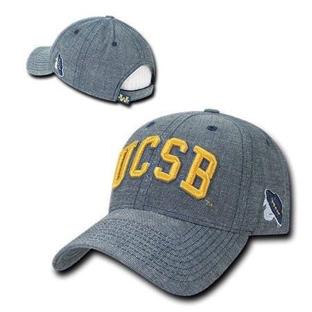 Denim Ball Cap - UC Santa Barbara Gauchos UCSB NCAA Cotton Structured Denim Baseball Ball Cap Hat