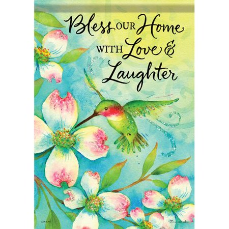Carson Home Accents Hummingbird and Dogwood 2-Sided Polyester Garden Flag