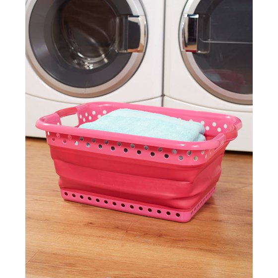 collapsible laundry baskets. Black Bedroom Furniture Sets. Home Design Ideas