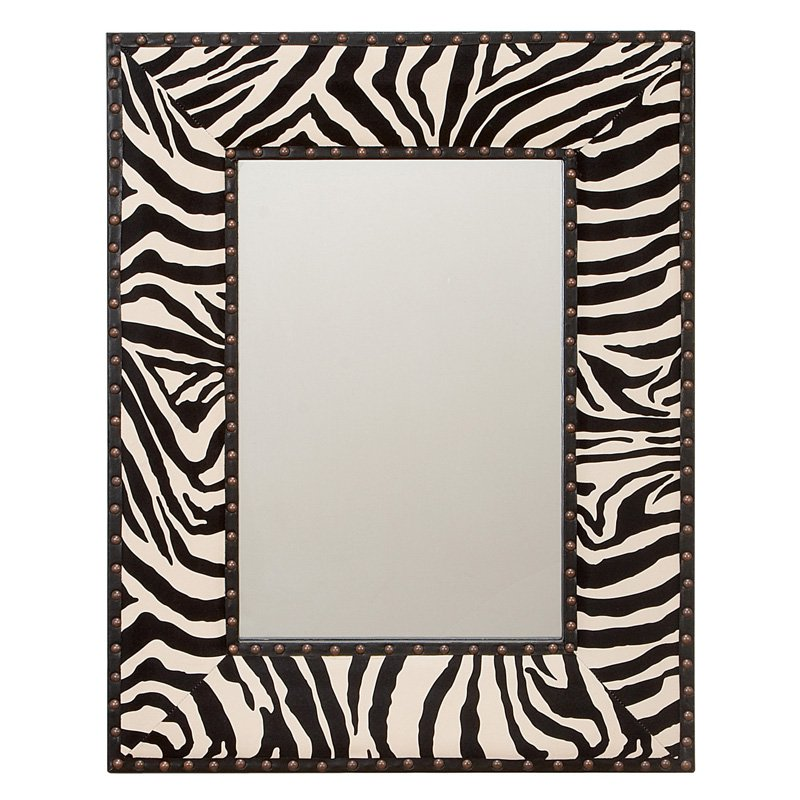 Aspire Home Accents Zebra Wall Mirror - 24W x 31H in.